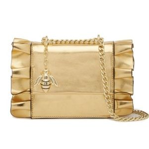 Worn Once Christian Siriano Gold Shoulder Bag